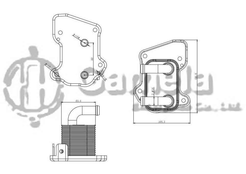 344005 - Oil-Cooler-for-OPEL-ASTRA-H-04-OEM-97373773