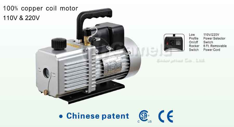50848-215D,230D,240D,250D,260D,270D,290D,2200D - VACUUM-PUMP-100-copper-coil-motor-Dual-Voltage-vacuum-pump