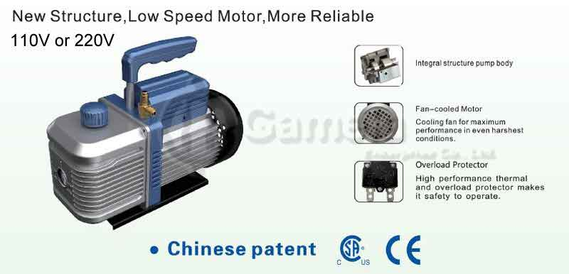 50848A-i210,i220,i230,i240,i250,i260,i280,i2200 - VACUUM-PUMP-New-Structure-Low-Speed-Motor-More-Reliable-2-Stage-vacuum-pump