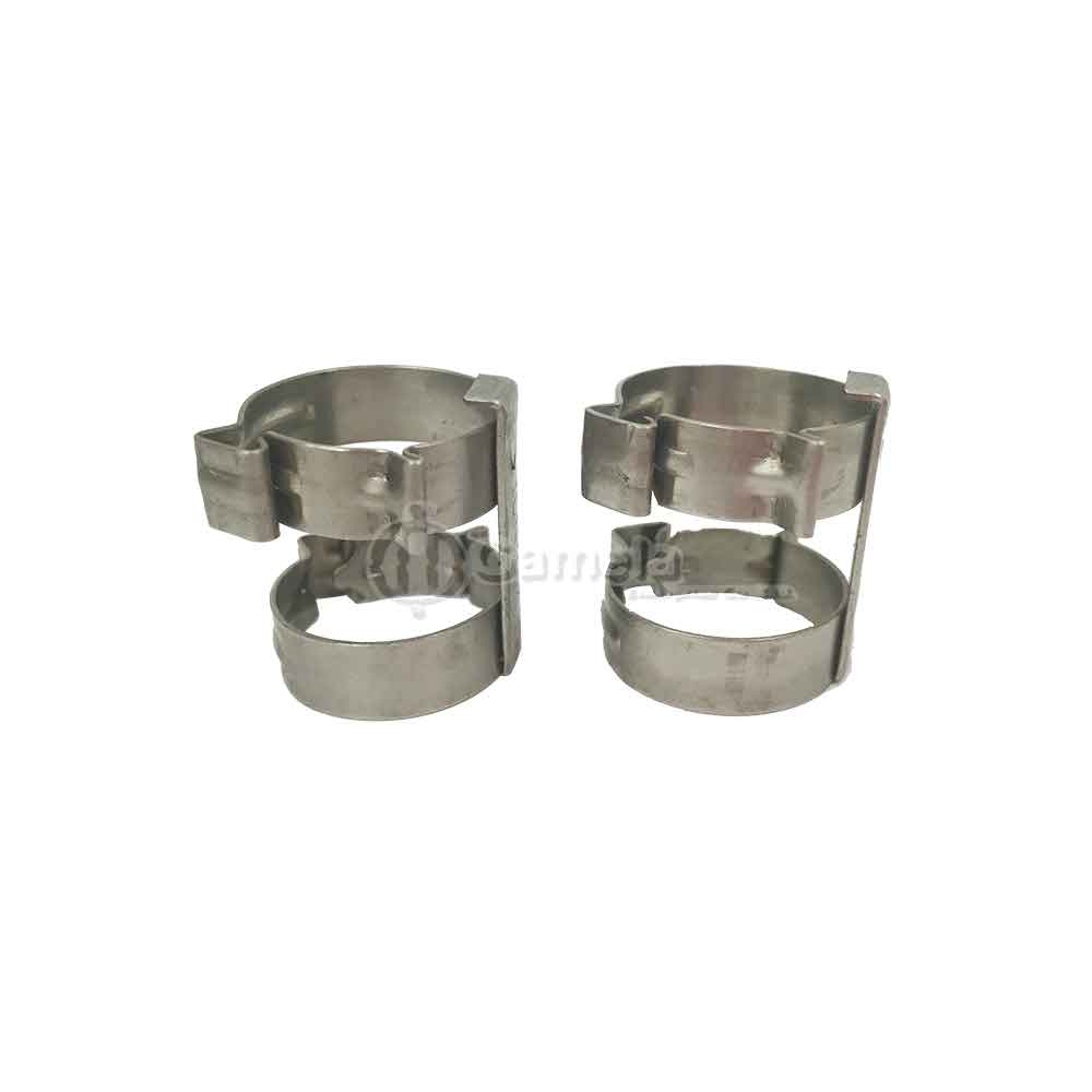 58324-8 - Reusable-Hose-Clamp-Holder-for-hose-8-Double-type-Metal-fit-Pipe-Fitting-DA-DB-DC-DD-Heavy-Duty-use