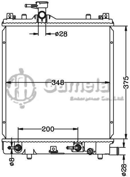 6110020AN - Radiator-for-Bei-Dou-Xing-AT