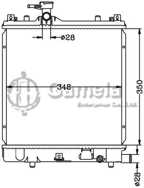 6110022AN - Radiator-for-Bei-Dou-Xing-MT