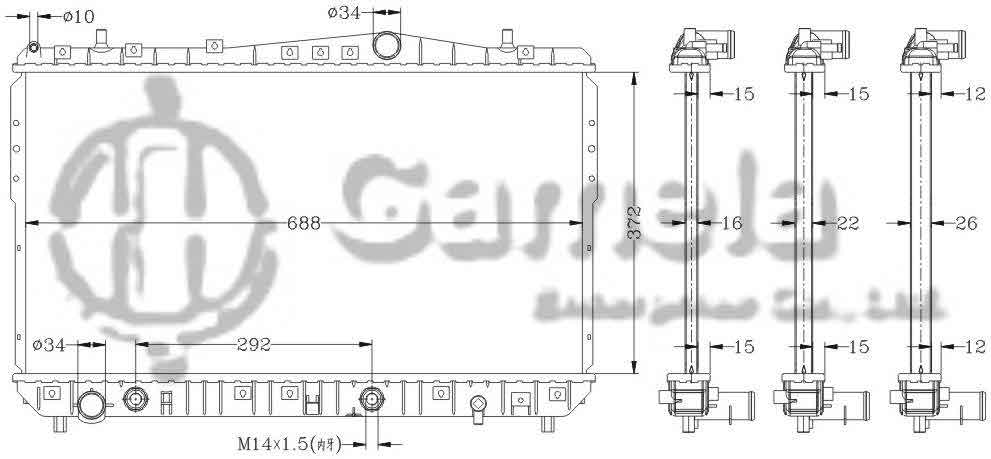 6111019N - Radiator-for-DAEWOO-NUBIRA-EXCELLE-03-AT-OEM-95663244