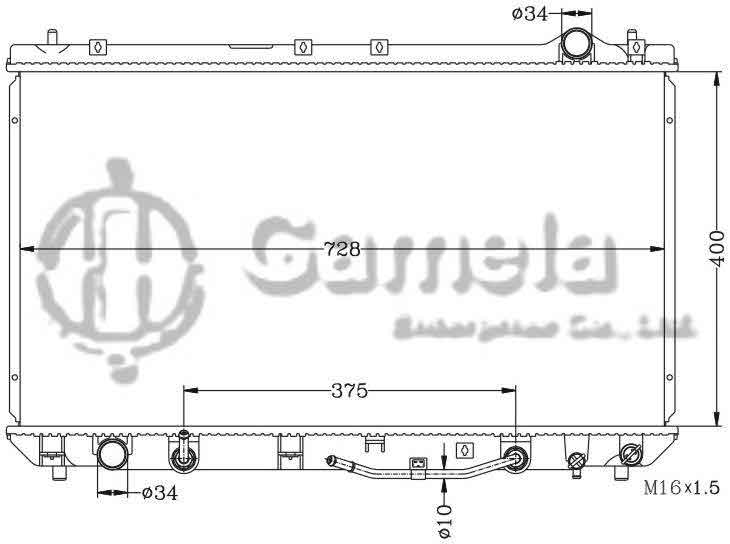 6112033N - Radiator-for-TOYOTA-CAMRY-97-00-MCV20-AT-OEM-16400-0A060-20090-DPI-1910