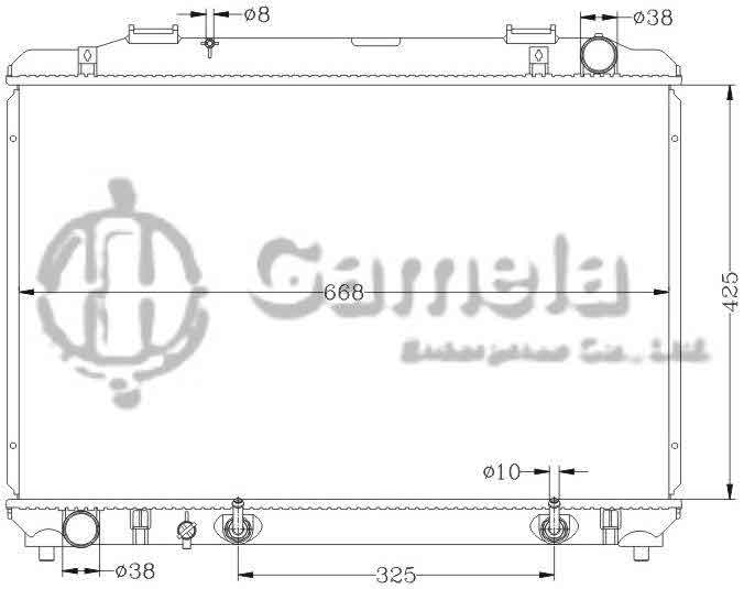 6112087N - Radiator-for-TOYOTA-TOWNACE-NOAH-96-AT-OEM-16400-6A230