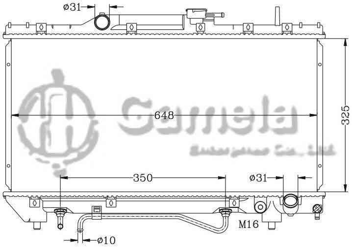 6112109N - Radiator-for-TOYOTA-CARINA-92-94-ST191-AT-OEM-16400-03130-74790