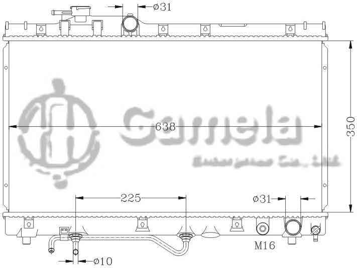 6112117N - Radiator-for-TOYOTA-CELICACARINA-94-97-ST200-AT-OEM-16400-7A070-7A090-DPI-1575-1958