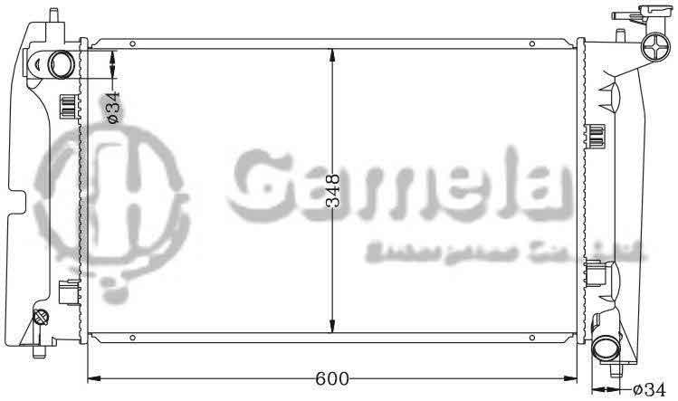 toyota 1 8 diagram radiator 6112248an gamela enterprise  radiator 6112248an gamela enterprise