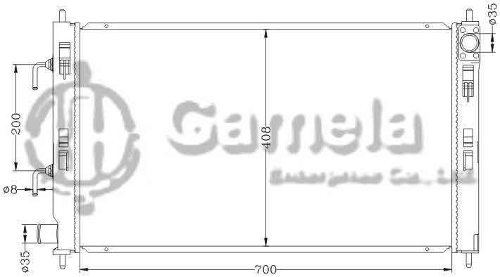 Radiator 6114188NA - Gamela Enterprise