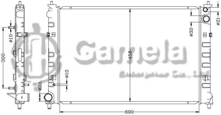Radiator 6116089AN - Gamela Enterprise